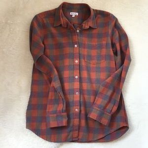 🌟steven alan reverse seam flannel plaid shirt P